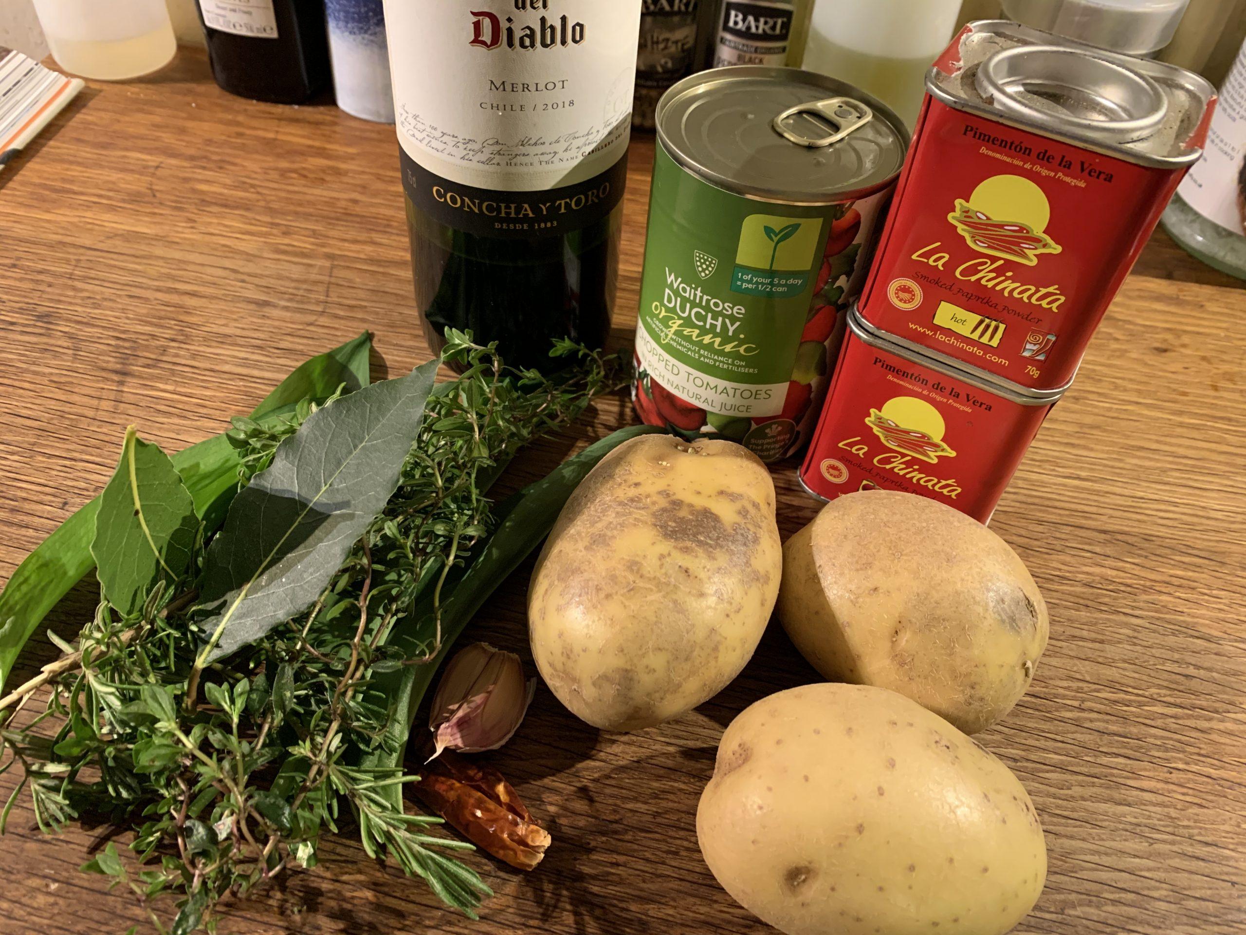 Patatas Bravas Ingredients