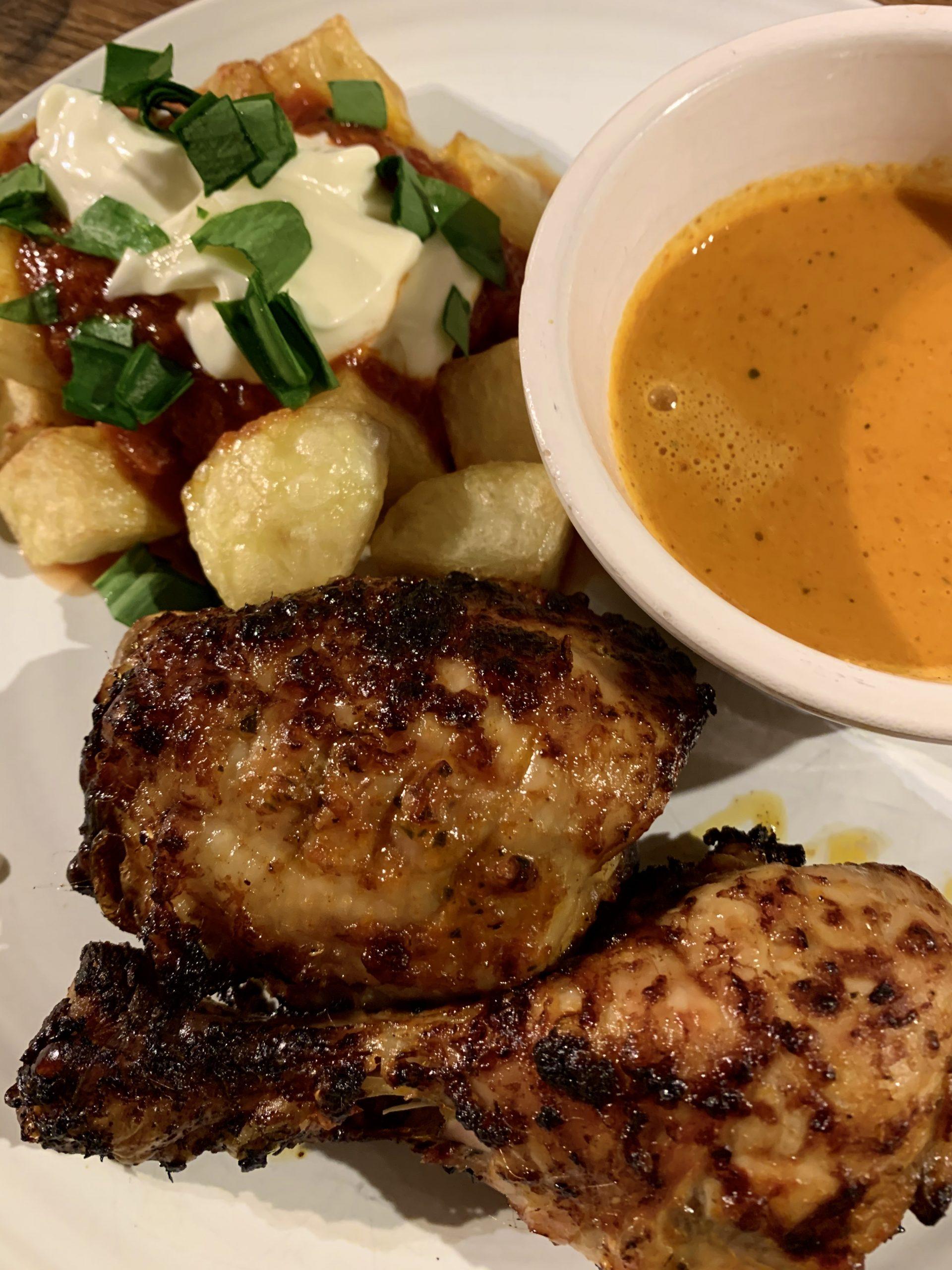 Piri Piri Chicken with Patatas Bravas