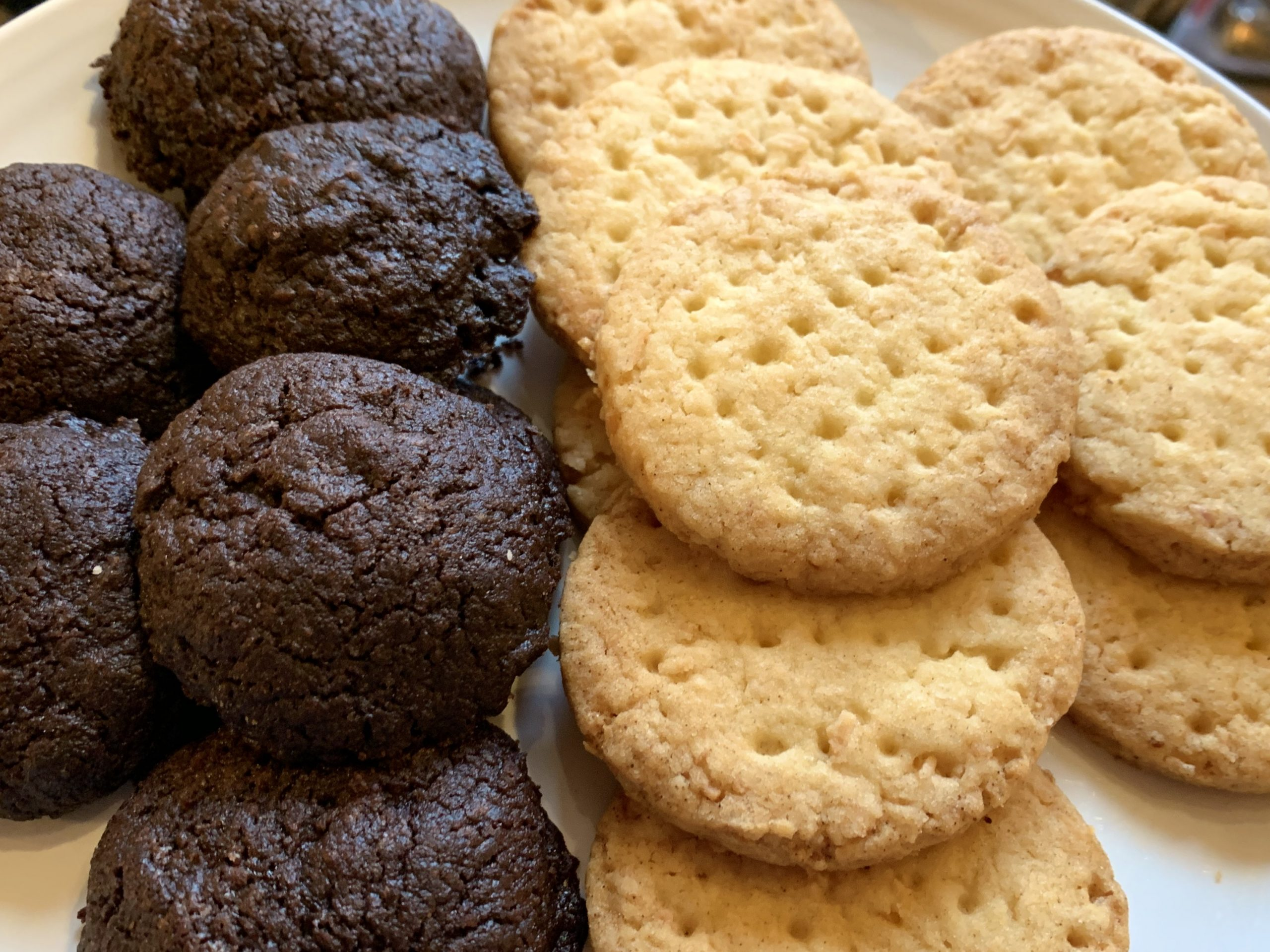 Chocolate Drops and Coconut Biscuits